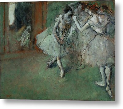 A Group Of Dancers Metal Print by Edgar Degas