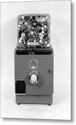 A Gumball Machine Metal Print by Underwood Archives