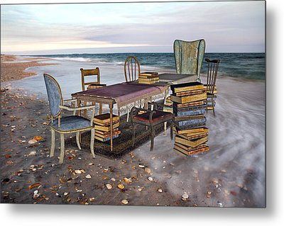 A Library Of Oceans Metal Print by Betsy C Knapp