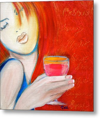 A Little Tart Metal Print by Debi Starr