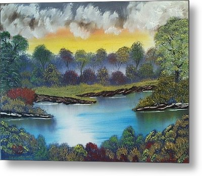 A Lovely Day In The Shenandoah Metal Print by Lee Bowman
