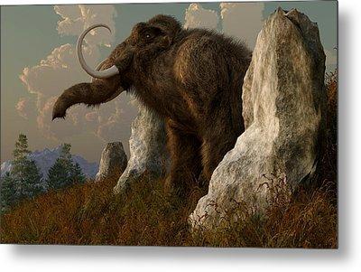 A Mammoth On Monument Hill Metal Print by Daniel Eskridge