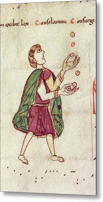 A Man Juggling Metal Print by British Library