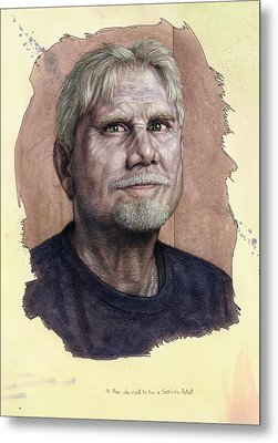 A Man Who Used To Be A Serious Artist Metal Print by James W Johnson