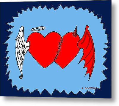 A Match Between Heaven And Hell Metal Print by Brian Dearth