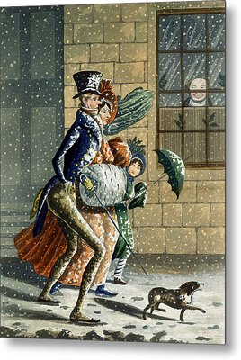 A Merry Christmas And Happy New Year Metal Print by W Summers