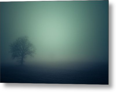 A Misty Alien Invasion Metal Print by Chris Fletcher