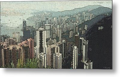 Misty Day In Hong Kong Metal Print by Pamela Blayney