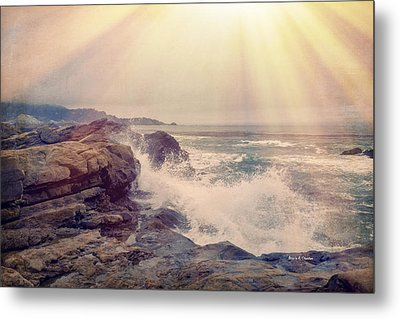 A Mysterious Morning - Point Lobos Metal Print by Angela A Stanton