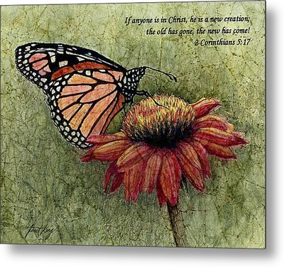 A New Creation From A Butterfly In My Garden Metal Print by Janet King