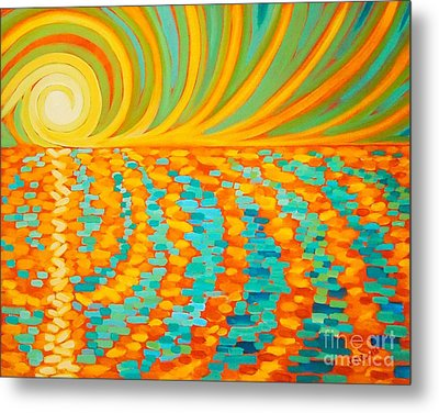 A New Day Is Dawning Metal Print by Janet McDonald