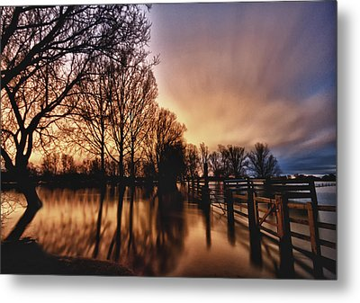 A Night Of Rain Metal Print by Robin Mortell
