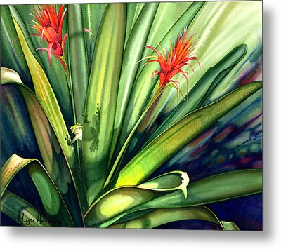 A Peek Through The Leaves Metal Print by Lyse Anthony
