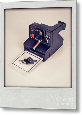 A Polaroid Of A Polaroid Taking A Polaroid Of A Polaroid Taking A Polaroid Of A Polaroid Taking A .. Metal Print by Mark Miller