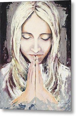 A Prayer... Metal Print by Elisabeta Hermann
