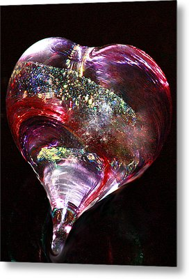 A Rainbow's Heart Metal Print by  The Art Of Marilyn Ridoutt-Greene