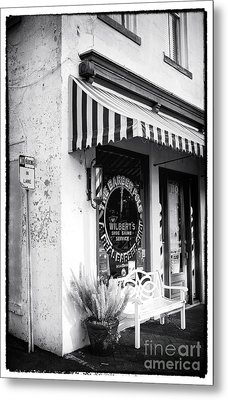 A Real Barber Shop Metal Print by John Rizzuto