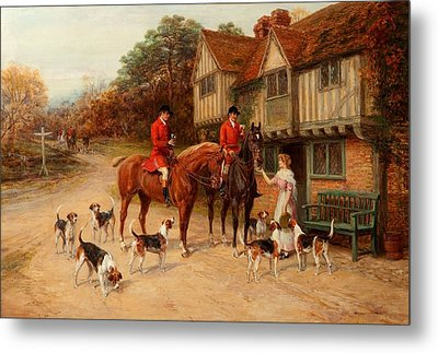 A Refresher At The Dragon Metal Print by Heywood Hardy