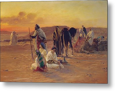 A Rest In The Desert Metal Print by Otto Pilny