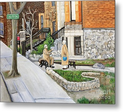 A Rest On Summerhill Avenue Metal Print by Reb Frost