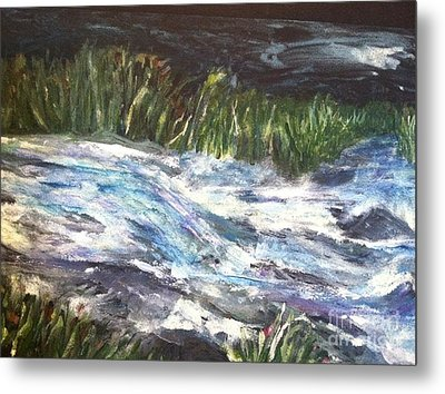 A River Runs Through Metal Print by Sherry Harradence