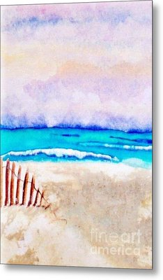 A Sand Filled Beach Metal Print by Chrisann Ellis