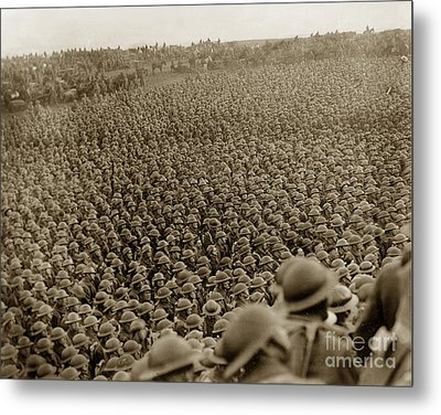 A Sea Of Helmets World War One 1918 Metal Print by California Views Mr Pat Hathaway Archives