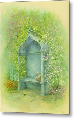A Seat In The Garden Metal Print by Garry Walton