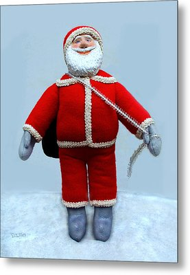A Simple Santa Metal Print by David Wiles