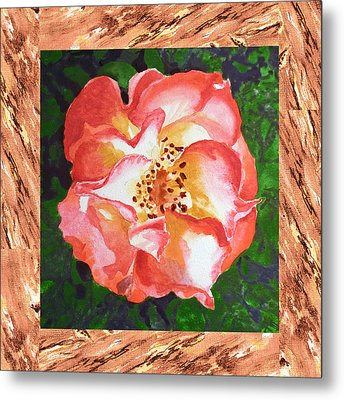 A Single Rose The Dancing Swirl  Metal Print by Irina Sztukowski