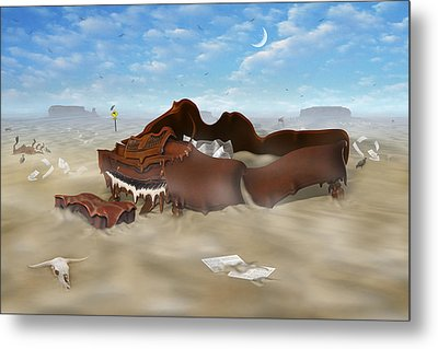 A Slow Death In Piano Valley Metal Print by Mike McGlothlen