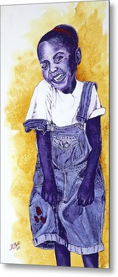 A Smile For You From Haiti Metal Print by Margaret Bobb