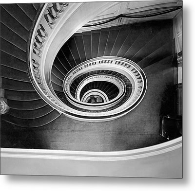 A Spectacular View Of The Grand Staircase At The New Home Of The Metal Print by Underwood Archives