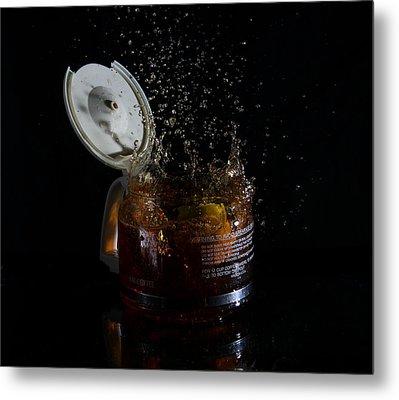A Splash Of Coffee Metal Print by Randy Turnbow