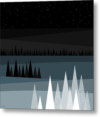 A Star Studded Sky Metal Print by Val Arie