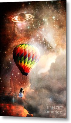 A Starry Ride Metal Print by Stephanie Frey
