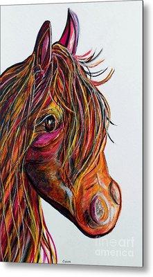 A Stick Horse Named Amber Metal Print by Eloise Schneider