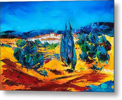 A Sunny Day In Provence Metal Print by Elise Palmigiani