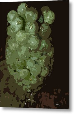 A Tall Glass Of Grapes Metal Print by Robert Margetts