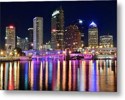 A Tampa Bay Night Metal Print by Frozen in Time Fine Art Photography