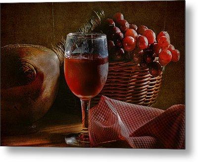 A Taste Of The Grape Metal Print by David and Carol Kelly