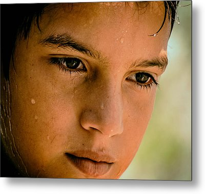 A Thoughtful Young Man Metal Print by Mountain Dreams
