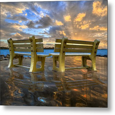 A Time For Reflection Metal Print by Debra and Dave Vanderlaan
