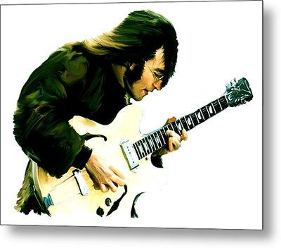 A Time It Was  John Lennon Metal Print by Iconic Images Art Gallery David Pucciarelli