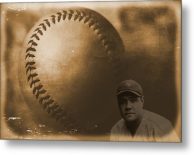 A Tribute To Babe Ruth And Baseball Metal Print by Dan Sproul
