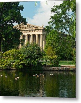 A View Of The Parthenon 17 Metal Print by Douglas Barnett