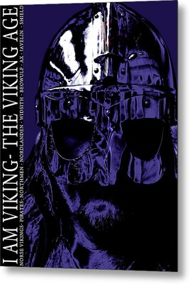 A Viking  Metal Print by Toppart Sweden