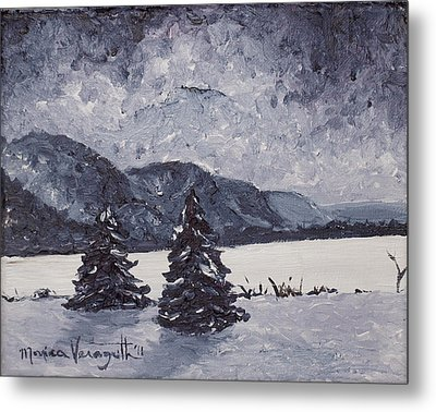 A Winter Evening Metal Print by Monica Veraguth