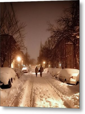 A Winter Night On Riverside Metal Print by SCB Captures