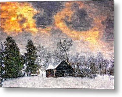 A Winter Sky Paint Version Metal Print by Steve Harrington